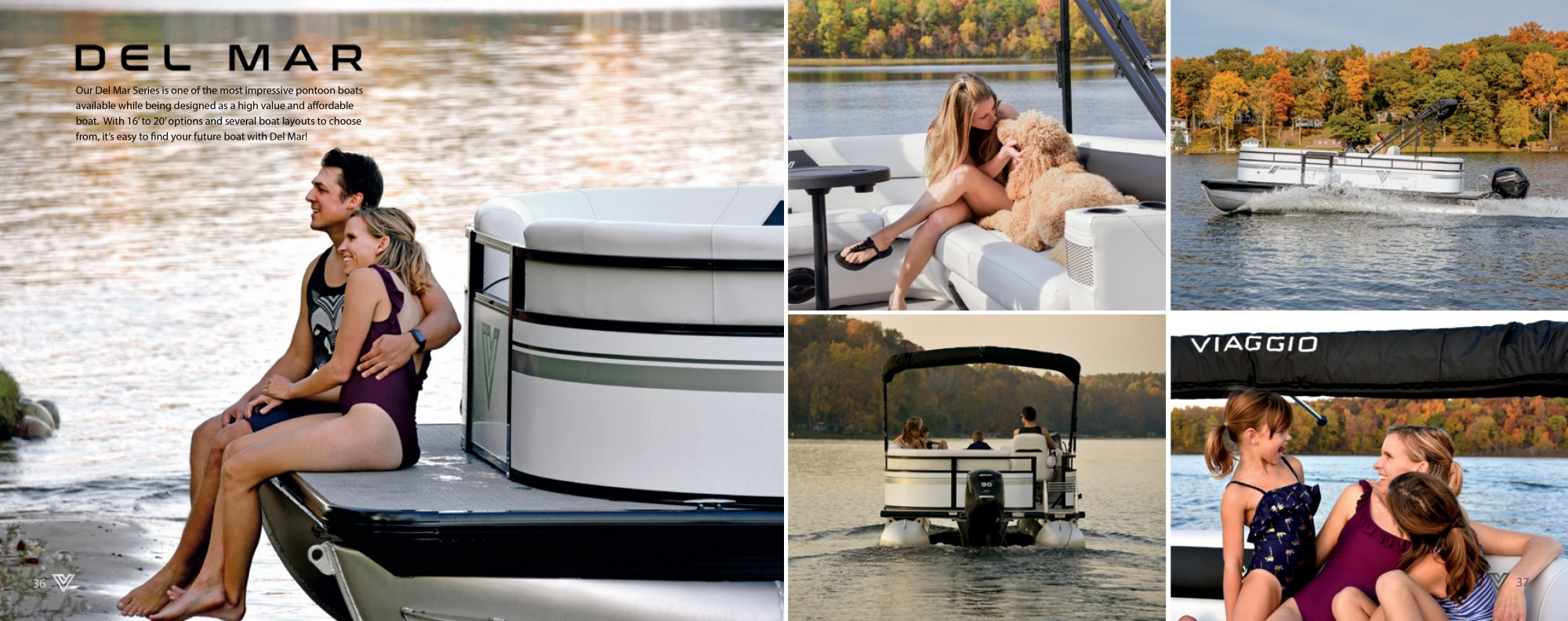 Del Mar Pontoon sold by Captiva Boat Sales and Service