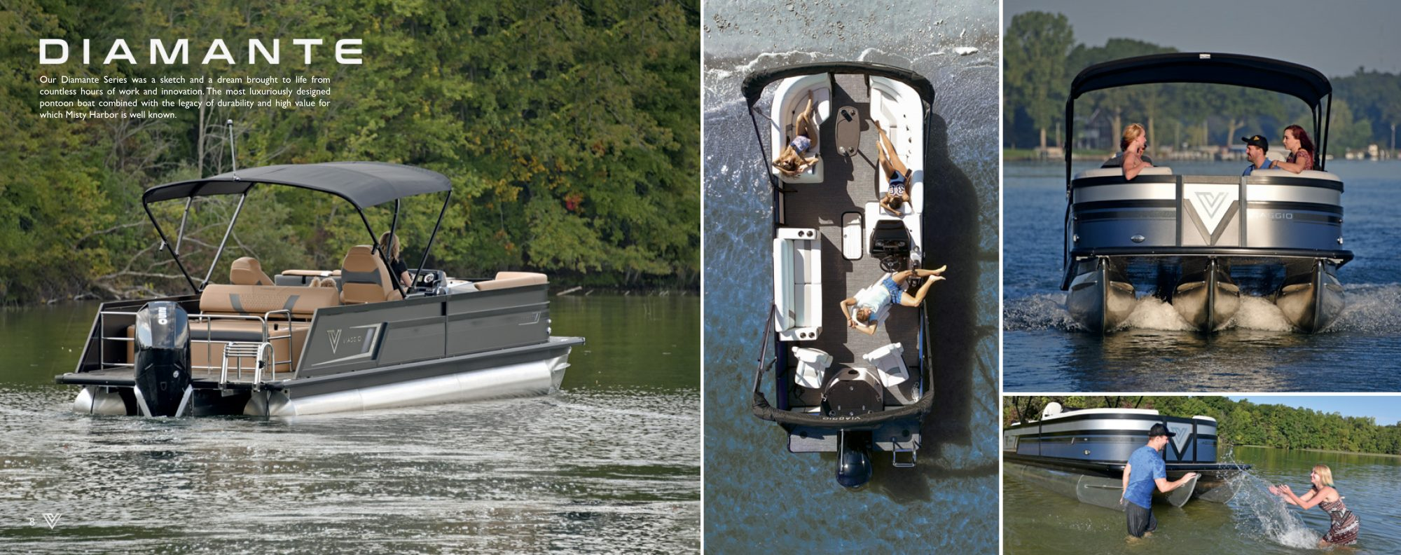 diamante pontoon sold by captiva boat sales and service